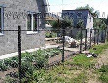 Забор сетки рабицы